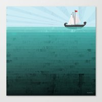 sail Canvas Prints featuring Sail by Kakel