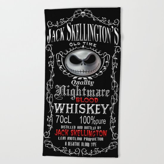 Halloween Parody Nightmare jack skellington Beach Towel