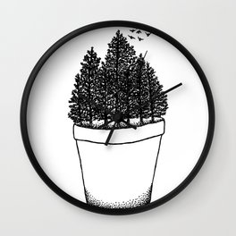 Potted Forest Wall Clock