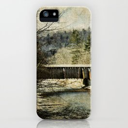Halls Mills Covered Bridge iPhone Case