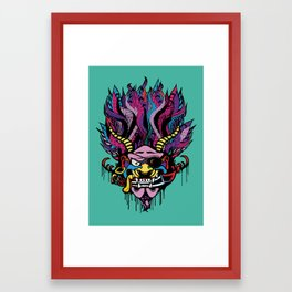 Pirate Demon Warlord Framed Art Print