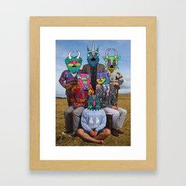 creatures family Framed Art Print