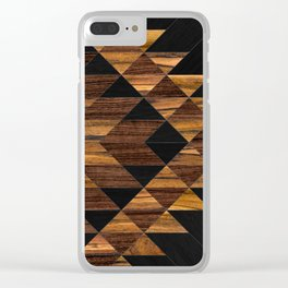 Urban Tribal Pattern 11 - Aztec - Wood Clear iPhone Case