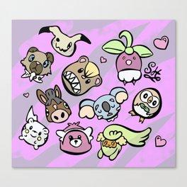 Cute Alola Pokémon Canvas Print