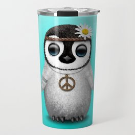 Cute Baby Penguin Hippie Travel Mug