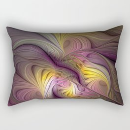 Unity, Abstract Colorful Fractal Art Rectangular Pillow