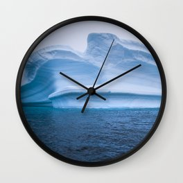 Visions of Blue Wall Clock