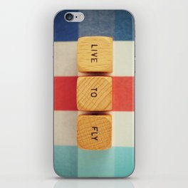 Live To Fly iPhone Skin