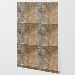 textured jute fabric for background and texture Wallpaper
