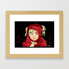 Blowing Kisses Framed Art Print