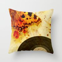 moth Throw Pillows featuring moth by Markus Breitbach