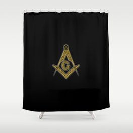 Freemason (Black & Gold) Shower Curtain