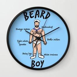 Beard Boy: Sailor Style Wall Clock