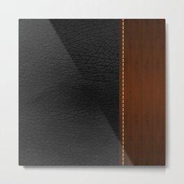 Black Leather look Metal Print