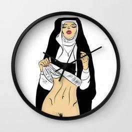 sexy nun Wall Clock