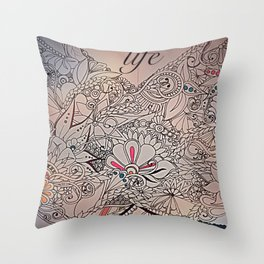 Wings of life Throw Pillow