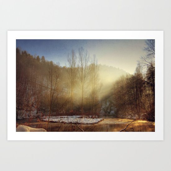 magicAl, winter light Art Print