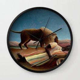 Henri Rousseau - The Sleeping Gipsy Wall Clock