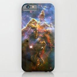 Mystic Mountain (a region in the Carina Nebula)(NASA/ESA Hubble Space Telescope) iPhone Case