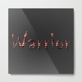 Warrior red 6 Metal Print