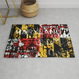 Maryland Flag Print Rug