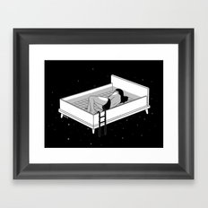 Bed for crying Framed Art Print