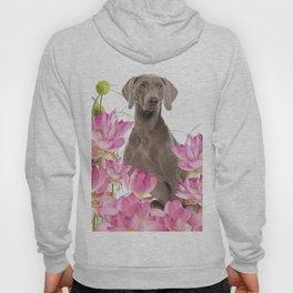 Weimaraner Lotos Flowers Hoody