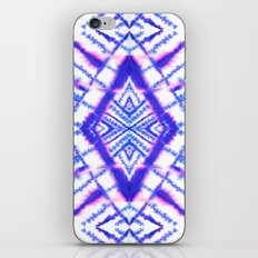 Dye Diamond Iridescent Blue iPhone Skin