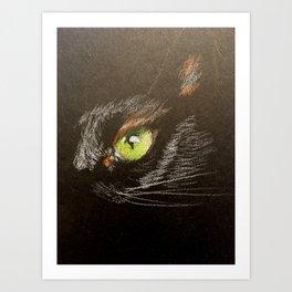 Black cat 2 Art Print