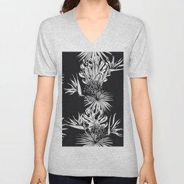 Black and white tropics Unisex V-Neck