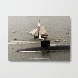USS RHODE ISLAND (SSBN-740) Metal Print