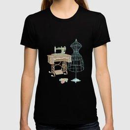 Vintage Dressmaker Illustration T-shirt