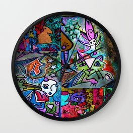 Z Sprite goes for a stroll through Outer Space and Inner Space Wall Clock