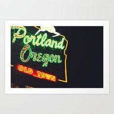 Portland! Art Print