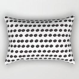 Black Dots White Background Asymmetrical Pattern Rectangular Pillow