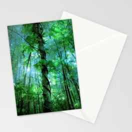Forest Of The Fairies Green Blue Stationery Cards