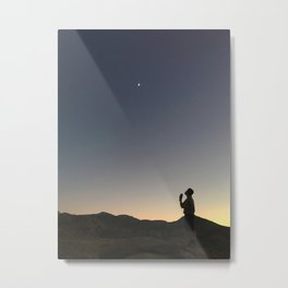 THE MOON + HER Metal Print