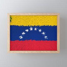 Extruded flag of Venezuela Framed Mini Art Print