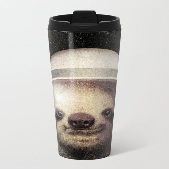 Space Sloth Metal Travel Mug