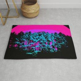 Mod Trees: Fuchsia Purple Turquoise Rug