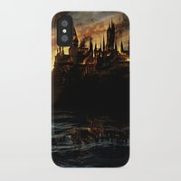 harry potter iPhone & iPod Cases featuring Harry Potter - Hogwart's Burning by Juniper Vinetree
