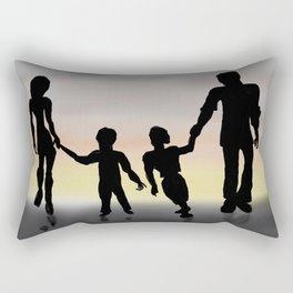 Family Sillouette   Rectangular Pillow
