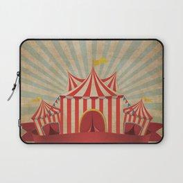 Shabby Circus Tent Retro Vintage Kitschy Laptop Sleeve