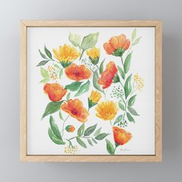 Spring Wildflowers Framed Mini Art Print
