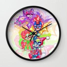 Chibi Gotham Girls Wall Clock