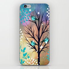 Blue Birds in Tree iPhone & iPod Skin