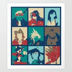 Final Fantasy VII characters POP Art Print