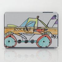 truck iPad Cases featuring Rocket Truck by Ryan van Gogh