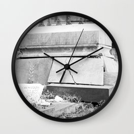 very old grave Wall Clock