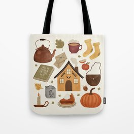 Autumn Cottage Days Tote Bag
